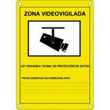 CARTEL CCTV ACCESORIOS DE VIDEO- CARTEL PLÁSTICO EXTERIOR SERIGRAFIADO SEGÚN NORMATIVA LOPD